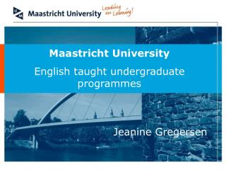 Maastricht University English taught undergraduate programmes