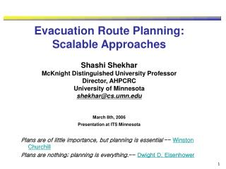 Why Evacuation Planning?