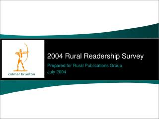 2004 Rural Readership Survey