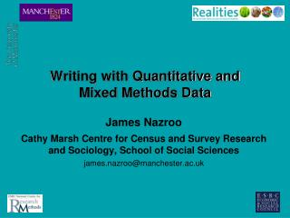 Writing with Quantitative and Mixed Methods Data