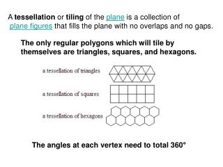 The only regular polygons which will tile by themselves are triangles, squares, and hexagons.