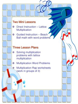 Two Mini Lessons Direct Instruction – Lattice Multiplication