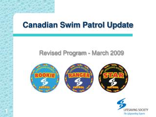 Canadian Swim Patrol Update