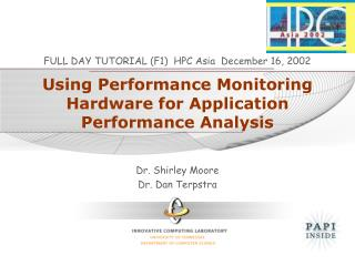 Using Performance Monitoring Hardware for Application Performance Analysis