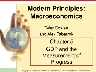 Chapter 5 GDP and the Measurement of Progress