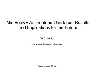 MiniBooNE Antineutrino Oscillation Results and Implications for the Future
