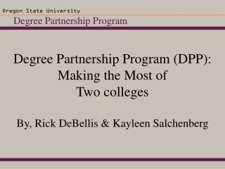 Degree Partnership Program