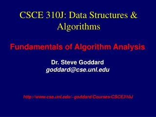 CSCE 310J: Data Structures & Algorithms