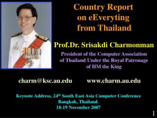 Country Report  on eEveryting  from Thailand