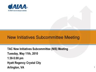 New Initiatives Subcommittee Meeting