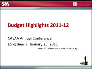 Budget Highlights 2011-12