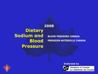 Dietary Sodium and Blood Pressure