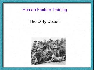Human Factors Training