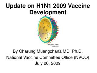 By Charung Muangchana MD, Ph.D. National Vaccine Committee Office (NVCO) July 26, 2009