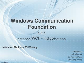 Windows Communication Foundation