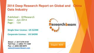 2014 Global and China Oats Market Size, Analysis, Industry