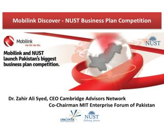 Mobilink  Discover - NUST Business Plan Competition