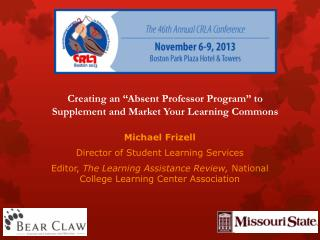 "Creating an ""Absent Professor Program"" to Supplement and Market Your Learning Commons"