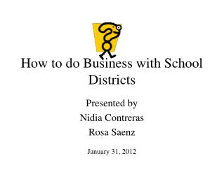 How to do Business with School Districts