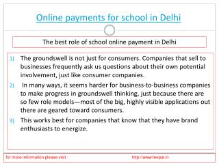Outstanding Features About online payment for school in Delh