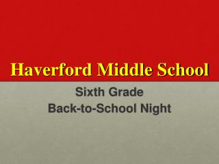 Haverford Middle School