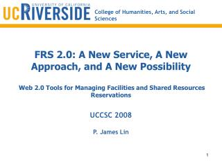 FRS 2.0: A New Service, A New Approach, and A New Possibility