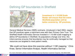 Defining GP boundaries in Sheffield