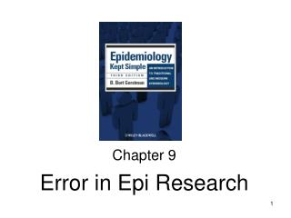 Chapter 9 Error in Epi Research