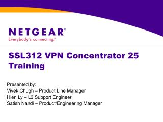 SSL312 VPN Concentrator 25 Training
