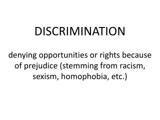 How much discrimination actually occurs?