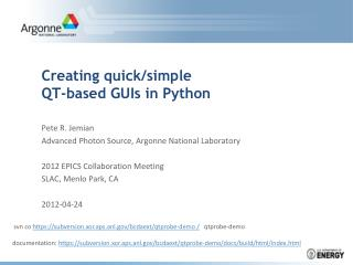 Creating  quick/simple  QT-based  GUIs in Python