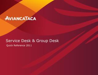 Service Desk & Group Desk