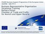 Business Representative Organisation Vocational Training Barbara Peinel Chamber of Trade and Crafts for Munich and Upper
