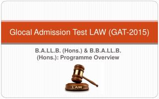 Glocal admission test law (GAT 2015)