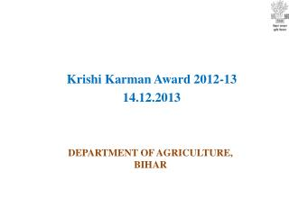 DEPARTMENT OF AGRICULTURE, BIHAR