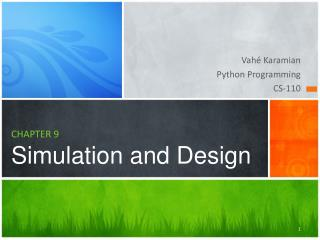 CHAPTER  9 Simulation and Design