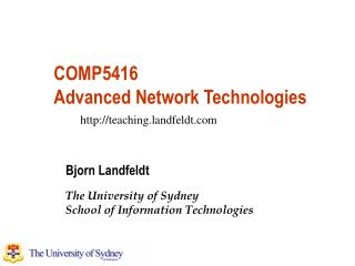 COMP5416 Advanced Network Technologies