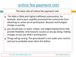 Tips for a Successful submission online fee payment niet