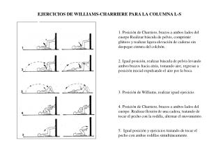 EJERCICIOS DE WILLIAMS-CHARRIERE PARA LA COLUMNA L-S