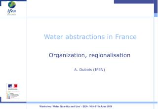 Water abstractions in France