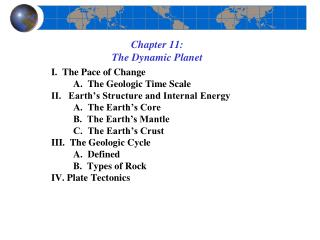 Chapter 11: The Dynamic Planet
