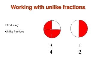 Working with unlike fractions