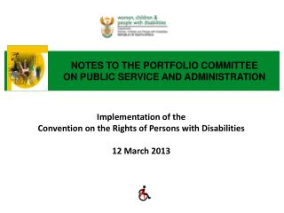 NOTES TO THE PORTFOLIO COMMITTEE ON PUBLIC SERVICE AND ADMINISTRATION