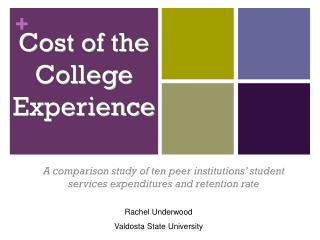 Cost of the College Experience