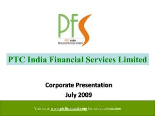 Corporate Presentation July 2009