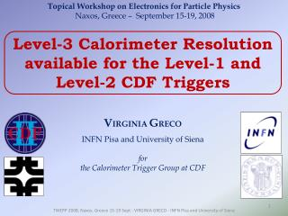 Level-3 Calorimeter Resolution available for the Level-1 and Level-2 CDF Triggers