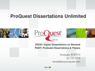 ProQuest Dissertations Unlimited