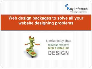 Web design packages to solve all your website designing prob