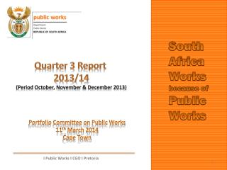 Portfolio Committee on Public Works 11 th  March 2014 Cape Town