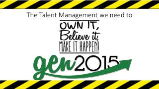 The Talent Management we need to